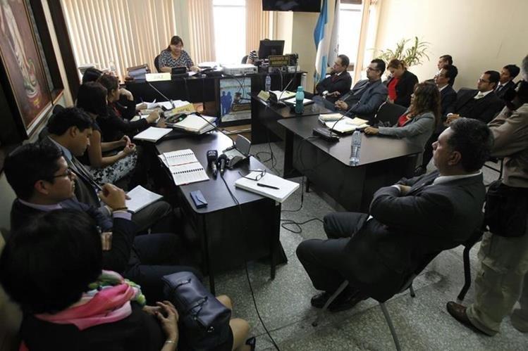 La audiencia de primera declaración se desarrollo por cinco días. (Foto Prensa Libre: Paulo Raquec)