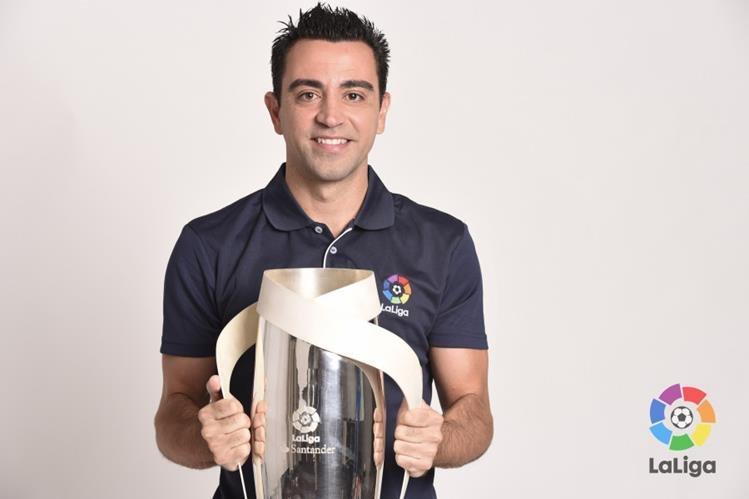 Xavi Hernández es embajador de La Liga Española. (Foto Prensa Libre: La Liga)