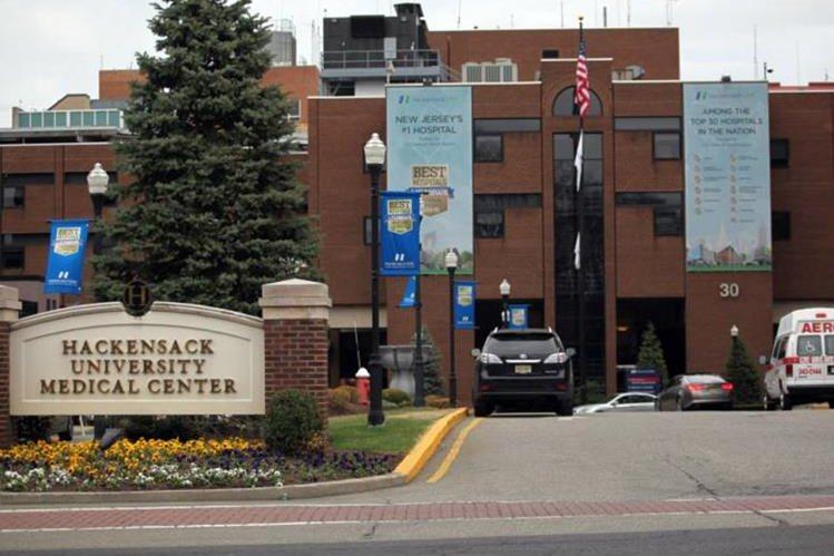 El Centro Médico Universitario de Nueva Jersey donde nació la niña con microcefalia.