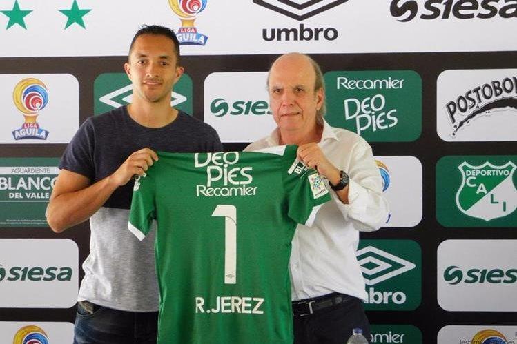 Ricardo Jerez fue presentado este jueves como uno de los refuerzos de Deportivo Cali. (Foto Prensa Libre: Twitter @jeshimy)