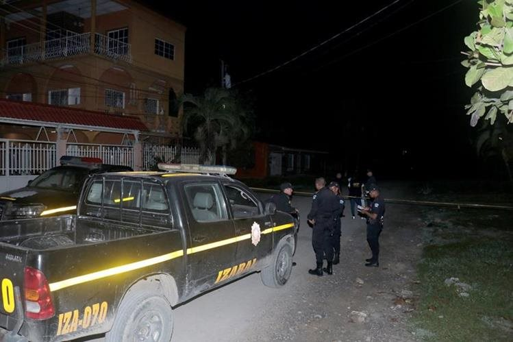 Lugar donde se registró el ataque en la ciudad de Puerto Barrios, Izabal. (Foto Prensa Libre: Dony Stewart)