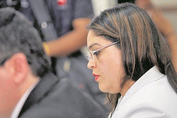 Jueza de Paz de San José Pinula, Rocío Murillo, durante una audiencia ante la Junta de Disciplina Judicial. (Foto Prensa Libre: Hemeroteca PL)