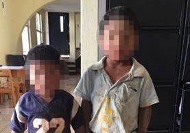 Menores rescatados por autoridades en Quetzaltenango. (Foto Prensa Libre: Cortesía PGN).