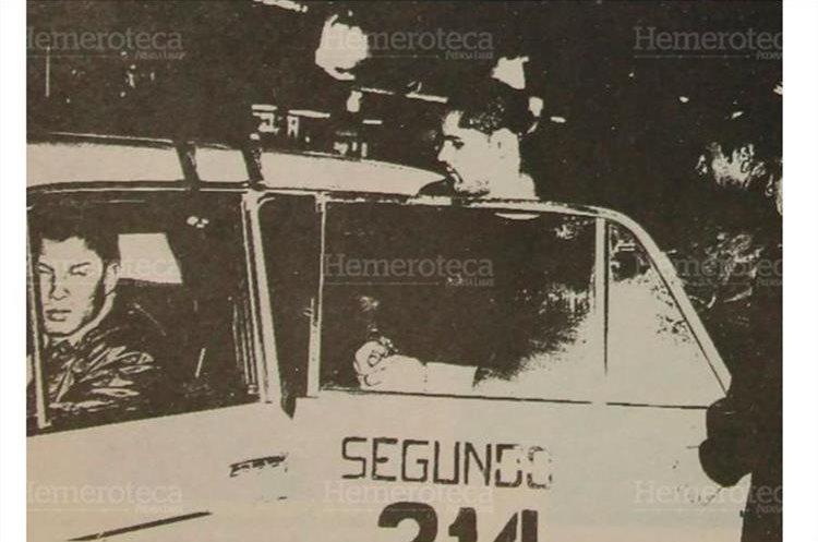Luego de tres meses de investigaciones la Polcía Nacional (PN) asignados al segundo cuerpo, capturan a Ricardo Ortega del Cid. 02/1995. (Foto: Hemeroteca PL)