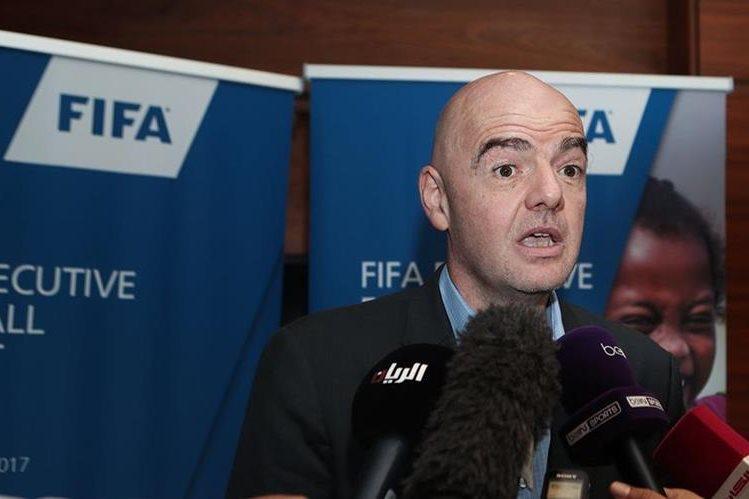 El presidente de la Fifa Gianni Infantino indicó que confía plenamente en las autoridades rusas. (Foto Prensa Libre: AFP).