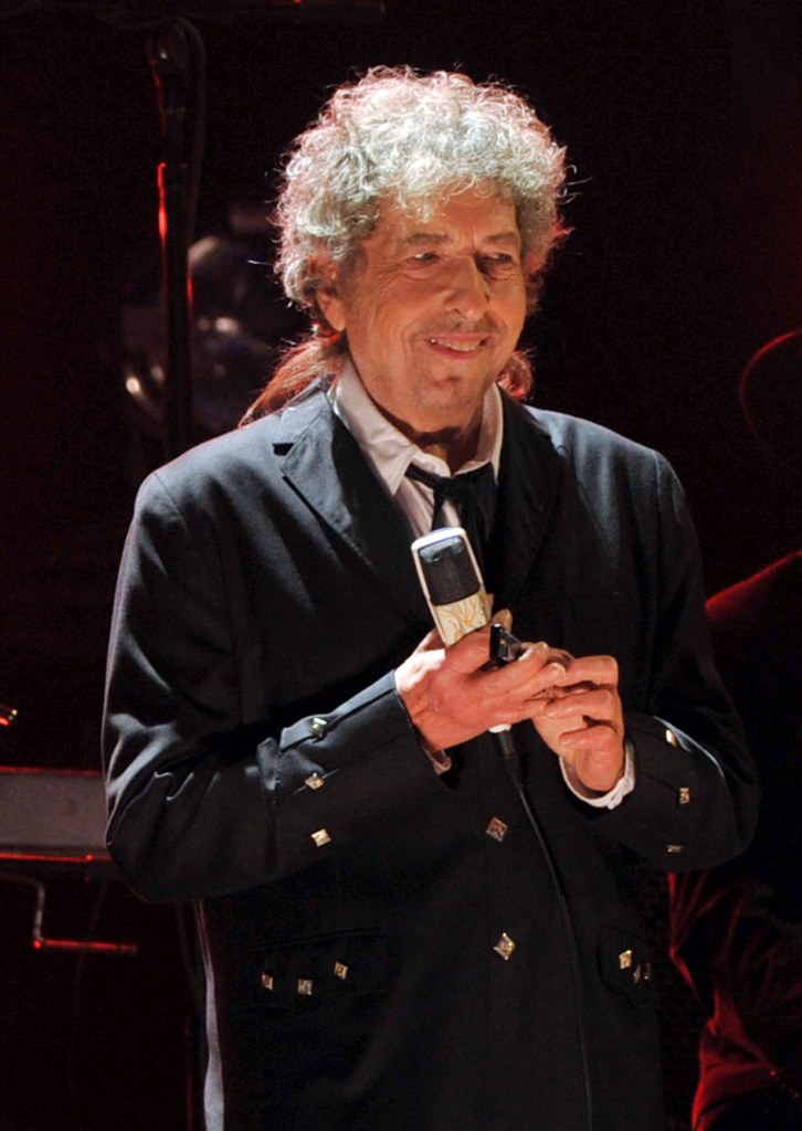 Bob Dylan durante la ceremonia de los  Critics