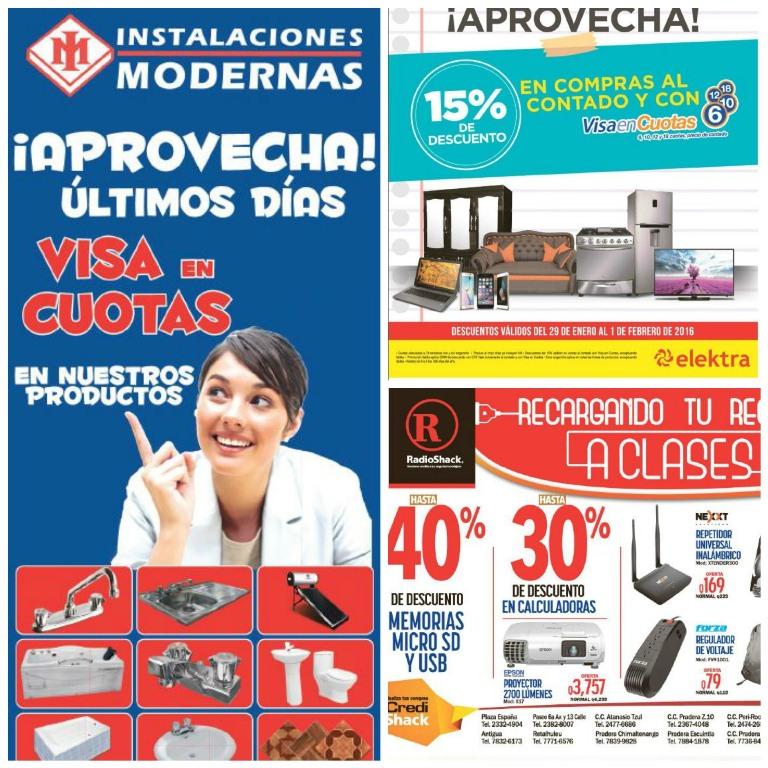 Varias empresas aprovecharon para dar ofertas y promocionar el último fin de semana de visa cuotas.