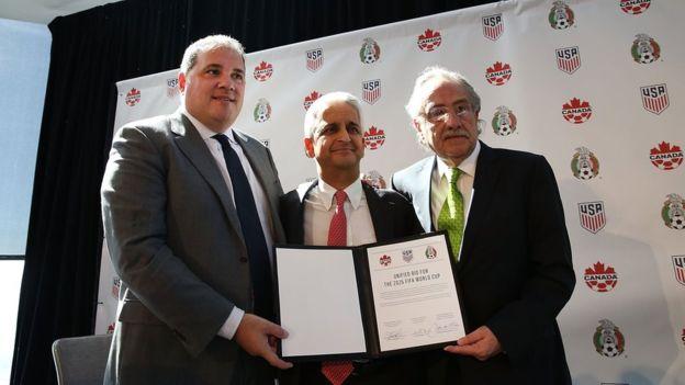 México, EE.UU. y Canadá presentaron su candidatura común para la organización del mundial de 2026, la cual debería ser electa en 2020 por los miembros de la FIFA. (GETTY IMAGES)