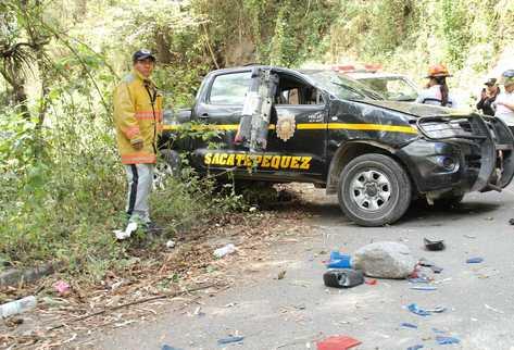 Hecho se registró en la cuesta de Las Cañas, en el cruce a la aldea San Juan Gascón de Antigua Guatemala. (Foto Prensa Libre: Miguel López)