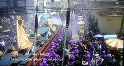 Para este domingo 18 de marzo habrá varias procesiones en la zona 1 de la capital. (Foto Prensa Libre: @amilcarmontejo).