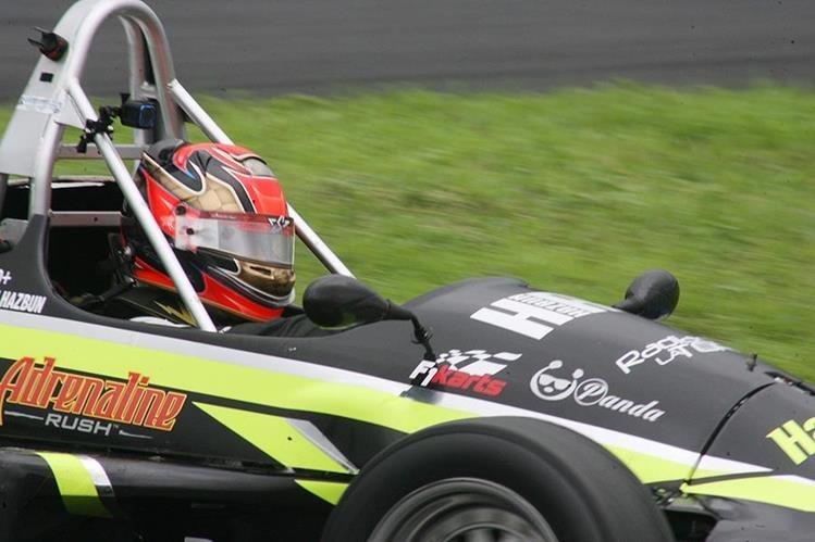 George Hazbun encabeza la clasificación en la Fórmula Mazda luego de tres fechas. (Foto César Pérez).