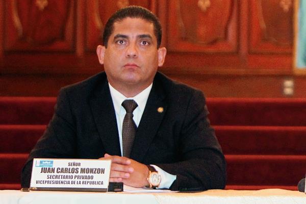 Juan Carlos Monzón, exsecretario privado de la Vicepresidencia, estaría en España.(Foto Prensa Libre: Hemeroteca PL)