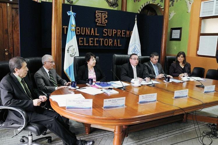 Los magistrados del Tribunal Supremo Electoral (TSE) presentaron reformas a la Ley Electoral y de Partidos Políticos. (Foto Prensa Libre: Hemeroteca PL)