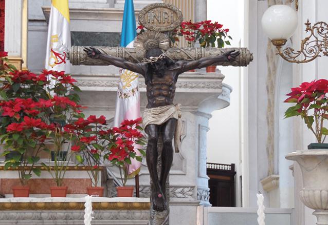 Imagen del Cristo de Esquipulas del Santuario de Guadalupe. (Foto: Néstor Galicia)