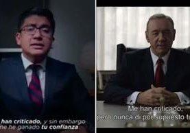 El sitio La Polilla Tlaxcala hizo una comparación del discurso de Covarrubias y el de Francis Underwood. (Foto Prensa Libre: La Polilla Tlaxcala / Facebook)