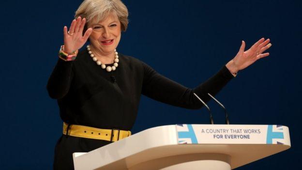 """Theresa May, primera ministra de Reino Unido, ha sido duramente criticada por rechazar a quienes se consideran """"ciudadanos del mundo"""". GETTY IMAGES"""