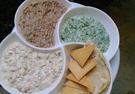 Este trío de dips encantará el paladar, según cada cada gusto. (Foto Prensa Libre, Brenda Martínez)