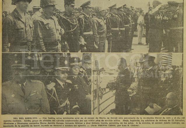 Desfile del Día del Ejército del año 1965 contó con la presencia de militares de los países centroamericanos. (Foto: Hemeroteca PL)