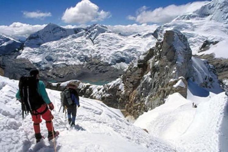 <em>Montañistas en el Huascarán, el nevado más alto de Perú.</em>