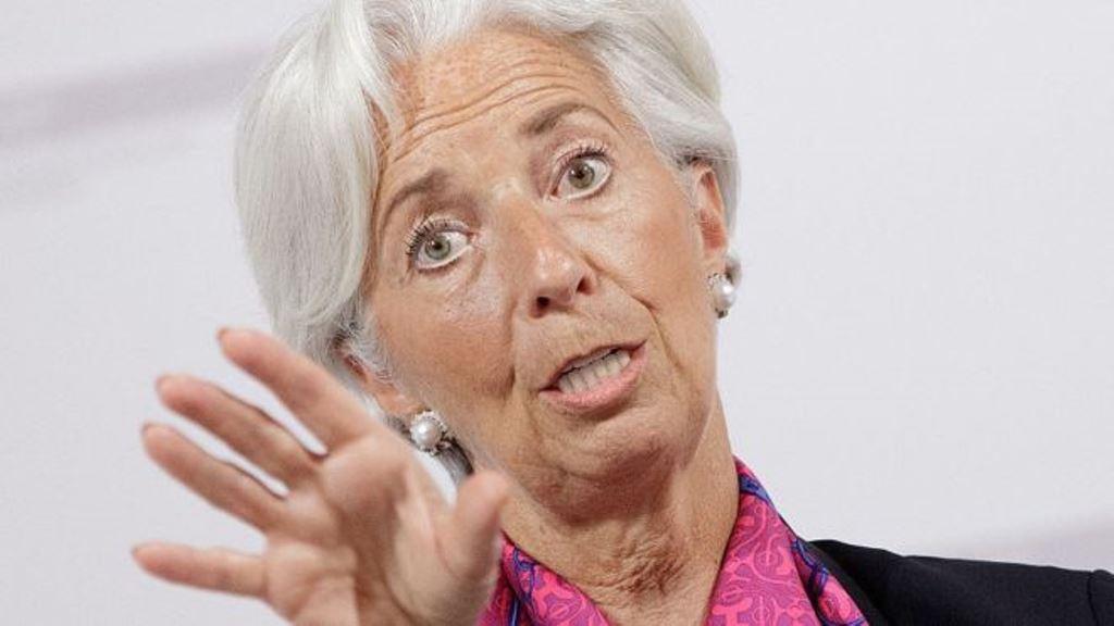Christine Lagarde está al frente del FMI. AFP