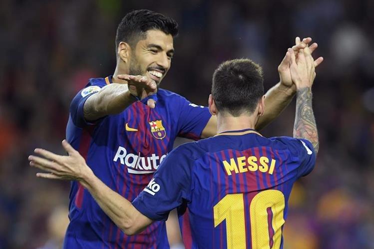 La falta de gol de Lionel Messi con la albiceleste es una de las más cuestionadas, al igual que la de sus compañero de fórmula en el Barceloan, Luis Suárez con Uruguay. (Foto Prensa Libre: AFP)