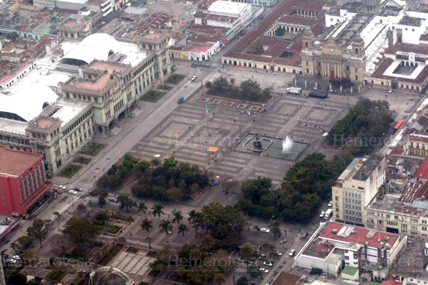 Vista aérea de la Plaza de la Constitución. (Foto: Hemeroteca PL)