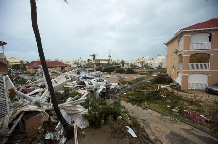 El paso de Irma en la Isla San Martín del Caribe fue desastroso.