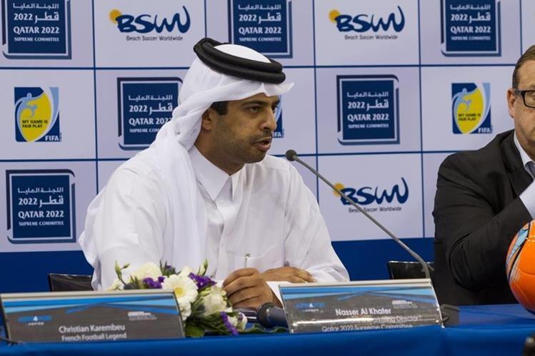 Nasser Al-Khater afirma que su país sigue con los preparativos para el Mundial de 2022. (Foto Prensa Libre: Hemeroteca PL)