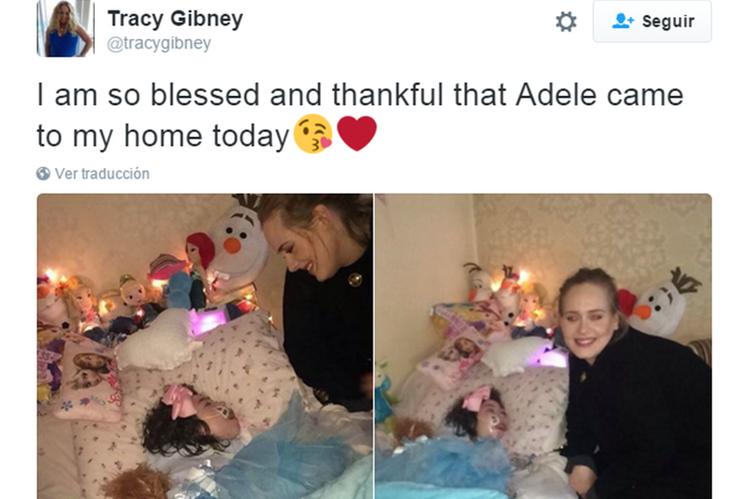 Adele hizo feliz a una niña (Foto Prensa Libre: Hemeroteca PL)