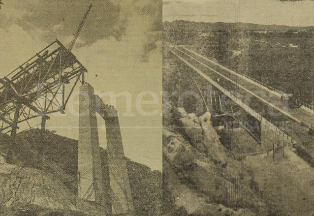 Distintas fases de la construcción del puente Belice. (Foto: Hemeroteca PL)