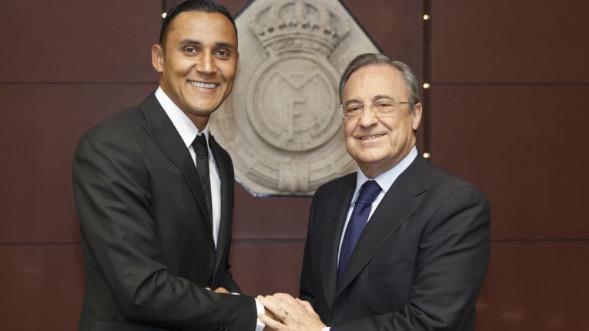Keylor Navas se reunió con Florentino Pérez previo a unirse con la Selección de Costa Rica. (Foto Prensa Libre: Hemeroteca PL)