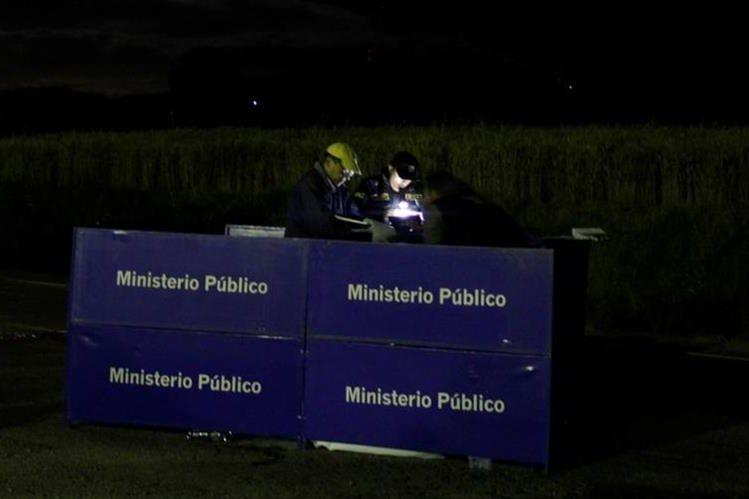Lugar donde se registró la tragedia en la ruta a Salcajá, Quetzaltenango. (Foto Prensa Libre: María José Longo).