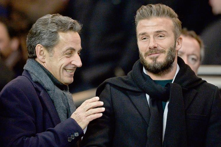 El inglés David Beckham dijo que apoya la candidatura del portugués Luis Figo. (Foto Prensa Libre:AFP)