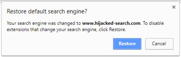 Ahora si una extensión maliciosa quiere cambiar su navegador, Chrome se lo hará saber y restaurará su configuración inicial. (Foto Prensa Libre: Gizmodo).