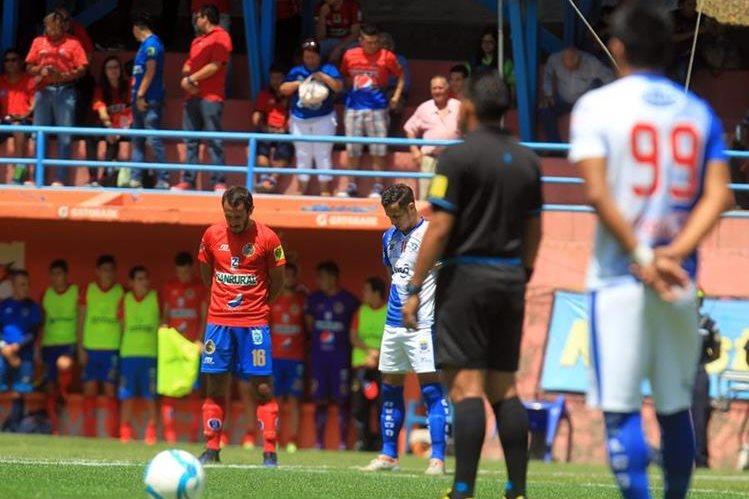 Municipal superó a Suchitepéquez por la mínima diferencia y mejora su posición en el liderato. (Foto Prensa Libre: Edwin Fajardo).