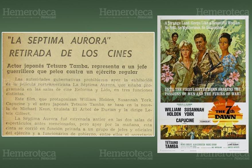 Nota publicada sobre la prohibición acompañada del poster de la película. (Foto: Hemeroteca PL)