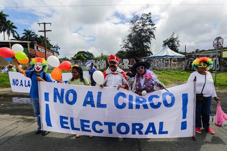 Opositores al regimen de Daniel Ortega han protagonizado múltiples protestas y piden a la OEA que vigile el proceso electoral. (Foto Prensa Libre: AFP).