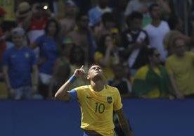 Brasil goleó 6-0 a Honduras en la semifinal del futbol masculino.