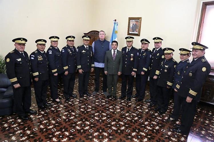 Ministerio de Gobernación completó nombramientos en la cúpula de la PNC. (Foto Prensa Libre: Mingob)