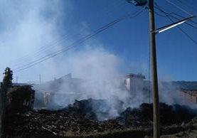 Terreno donde murió carbonizada la vaca Tomasita, debido a un incendio en Quetzaltenango. (Foto Prensa Libre: María José Longo)