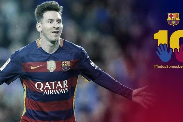El Barcelona promueve campaña para apoyar a Leo Messi. (Foto Prensa Libre: Twitter FC Barcelona)