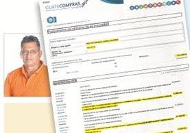 Documentos muestran gastos de la comuna. Inserto, alcalde Antonio Méndez.