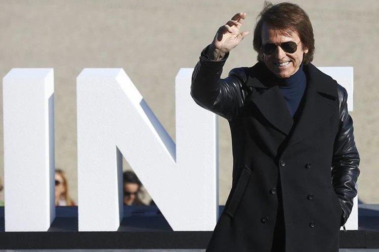 """El cantante y actor español Raphael, protagoniza """"Mi gran noche"""", presentada en la 63 edición del Festival de Cine de San Sebastián."""