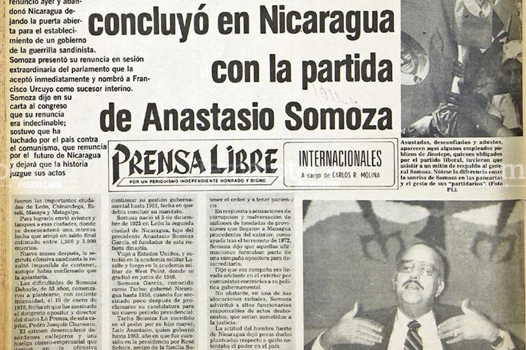 Anastasio Somoza, en una de sus últimas apariciones en Nicaragua. (Foto: Hemeroteca PL)