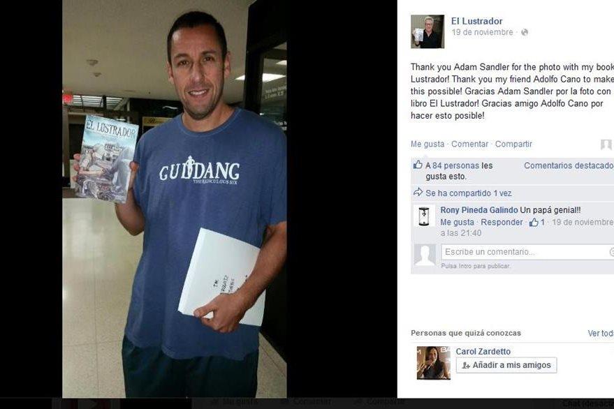 El actor Adam Sandler  ya han leído el libro. (Foto Prensa Libre: Hemeroteca PL)