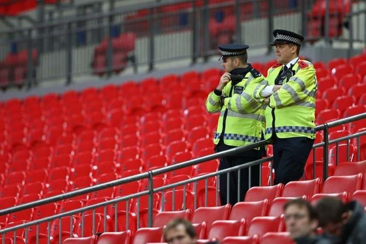 El estadio de Wembley tendrá más seguridad para el partido de la final de Copa el próximo sábado. (Foto Prensa Libre).