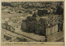 El templo de La Merced, en Guatemala de La Asunción, fue parcialmente destruido por el terremoto de 1976. (Foto: Hemeroteca PL