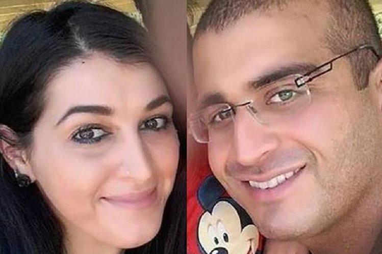 Noor junto a su esposo Omar Mateen, autor de la matanza en Orlando,Florida,EE.UU.