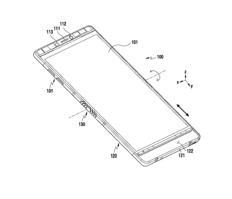 La propuesta de Samsung crearía nuevas dimensiones para el dispositivo (Foto Prensa Libre: LetsGoDigital / Engadget).