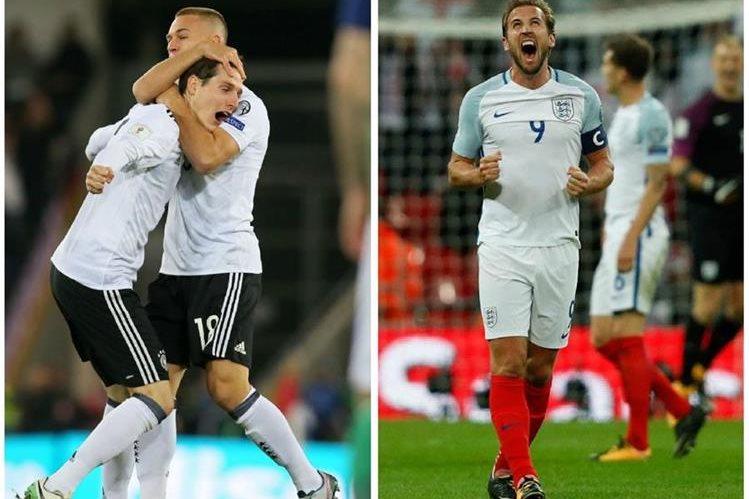 Alemania e Inglaterra festejaron su clasificación a la Copa del Mundo de Rusia 2018. (Foto Prensa Libre: AFP).